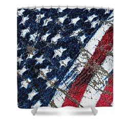 Grand Ol' Flag Shower Curtain by Bill Owen