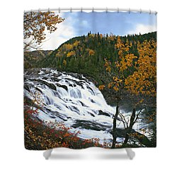 Grand-sault Falls On Madeleine River Shower Curtain by Yves Marcoux