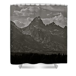 Shower Curtain featuring the photograph Grand Tetons by Eric Tressler