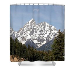 Grand Tetons Shower Curtain by Living Color Photography Lorraine Lynch