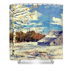 Grandma's Barn Shower Curtain by Lou Ann Bagnall