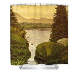 Grandpa Mountain Shower Curtain by Mitzi Foreman