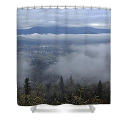 Grants Pass Weather Shower Curtain by Mick Anderson
