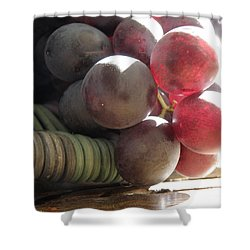 Grape Glow Shower Curtain by Lainie Wrightson