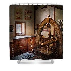 Graphic Artist - Graphic Workshop  Shower Curtain by Mike Savad