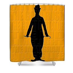 Graphic Chaplin Shower Curtain by Andrew Fare