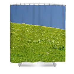 Grassy Slope View Shower Curtain by Roderick Bley