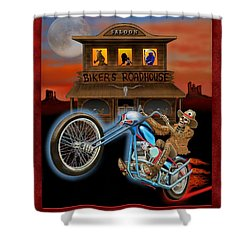 Grave Rider Shower Curtain by Glenn Holbrook
