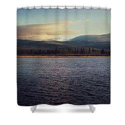 Gravel Lake Shower Curtain by Priska Wettstein