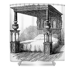 Great Bed Of Ware, C1590 Shower Curtain by Granger