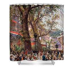 Great Exhibition Shower Curtain by Louis Haghe