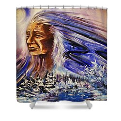 Great Father - Winter Shower Curtain