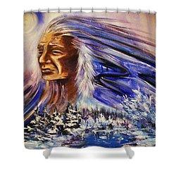 Great Father - Winter Shower Curtain by Karen  Ferrand Carroll