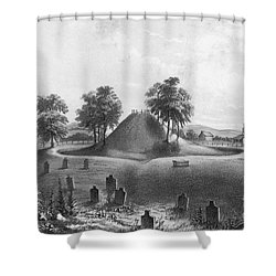 Great Mound At Marietta, 1848 Shower Curtain by Photo Researchers