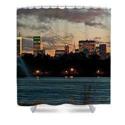 Great Pond Fountain Shower Curtain