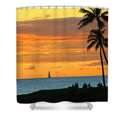 Greatest Show On Earth Shower Curtain by Dana Kern