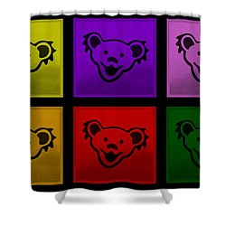 Greatful Dead Dancing Bears In Multi Colors Shower Curtain