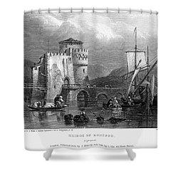 Greece: Negropont, 1833 Shower Curtain by Granger
