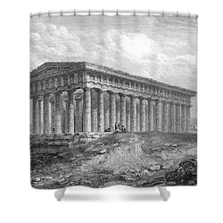 Greece: Temple Ruins Shower Curtain by Granger