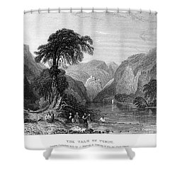 Greece: Vale Of Tempe Shower Curtain by Granger