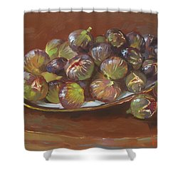 Greek Figs Shower Curtain by Ylli Haruni