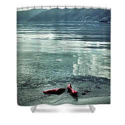 Green And Red Shower Curtain by Joana Kruse