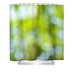 Green Forest And Blue Sky Shower Curtain by Elena Elisseeva