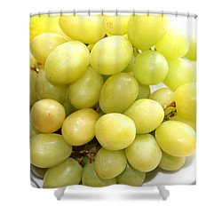 Green Grapes And Mum Shower Curtain by Barbara Griffin