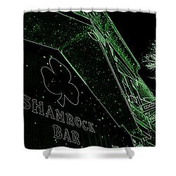 Green Night Shower Curtain