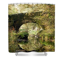 Green Reflections Shower Curtain