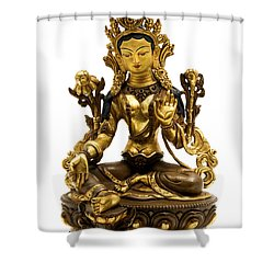 Green Tara Shower Curtain