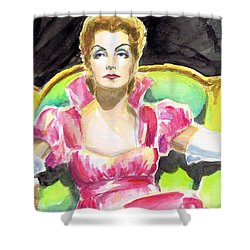 Greta Garbo Shower Curtain by Mel Thompson
