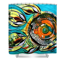 Gretchen Fish A Citrus Twist Shower Curtain