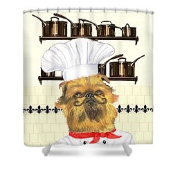 Shower Curtain featuring the mixed media Griff by Stephanie Grant