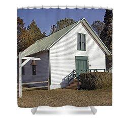 Griffiths Chapel 1850 Shower Curtain by Brian Wallace
