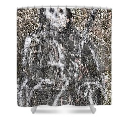 Grim Graffiti Shower Curtain by Kristie  Bonnewell