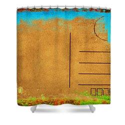Grunge Color On Old Postcard Shower Curtain by Setsiri Silapasuwanchai