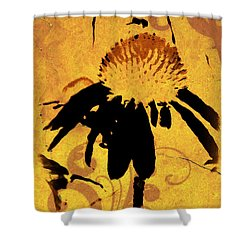 Grunge  Daisy Art Shower Curtain