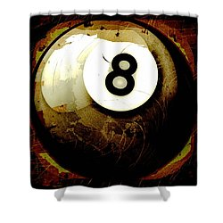 Grunge Style 8 Ball Shower Curtain by David G Paul