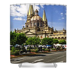 Guadalajara Cathedral Shower Curtain by Elena Elisseeva