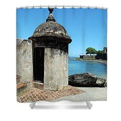 Guard Post Castillo San Felipe Del Morro San Juan Puerto Rico Shower Curtain by Shawn O'Brien