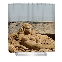 The Little Mermaid By The Sea Shower Curtain by Fotosas Photography