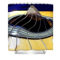 Guitar Warp Shower Curtain by Anne Mott