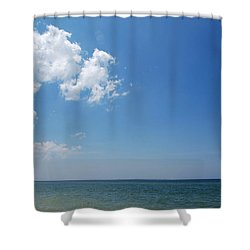 Gulf Sky Shower Curtain by Kay Lovingood