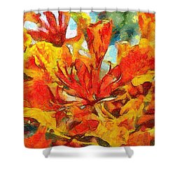 Gulmohar Shower Curtain