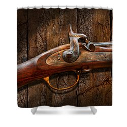 Gun - Musket - London Armory  Shower Curtain by Mike Savad