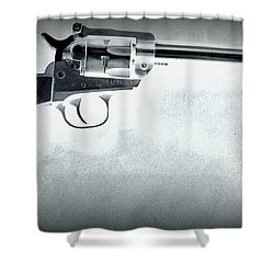 Shower Curtain featuring the photograph Guns And Leather 3 by Deniece Platt