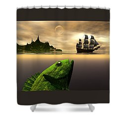 Shower Curtain featuring the digital art Gustatory Anticipation by Claude McCoy