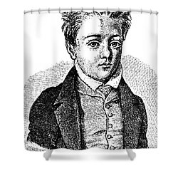 Gustave Flaubert, Age 10, French Author Shower Curtain by Photo Researchers