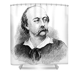 Gustave Flaubert, French Author Shower Curtain by Photo Researchers